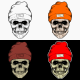 Skull Head Wearing Winter Hat With 4 Style Color