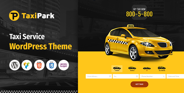 TaxiPark - Taxi Cab Service Company WordPress Theme - Corporate WordPress