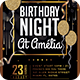 Birthday Night Party Flyer - GraphicRiver Item for Sale