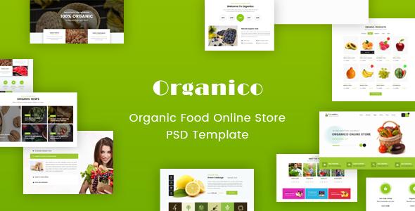 Download Free Origanico – Organic Online Store PSD Template