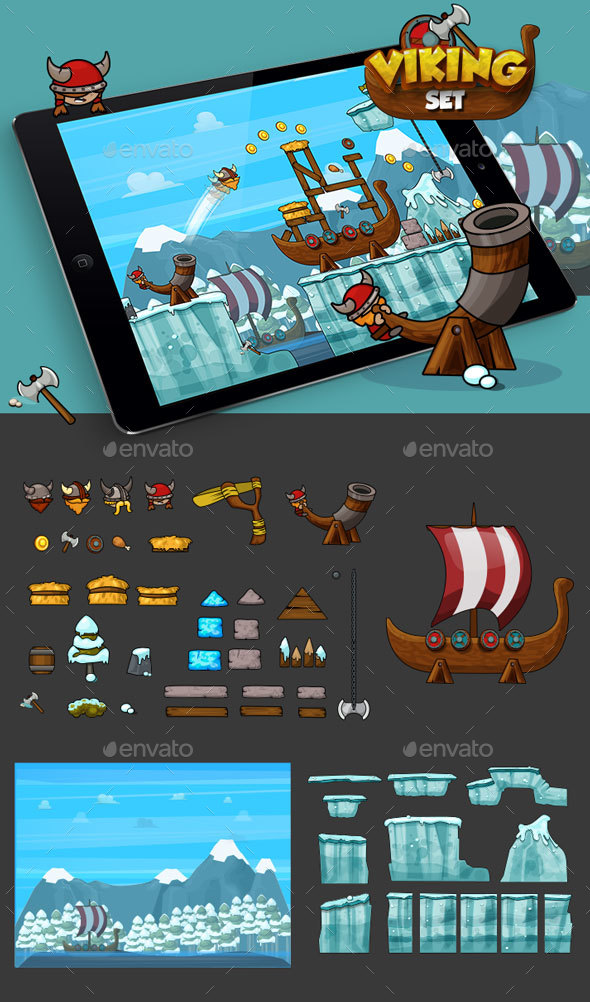 GraphicRiver Physics Game Vikings Set 20349240