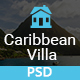 Caribbean Villa - hotel, resort, villa and business PSD Template