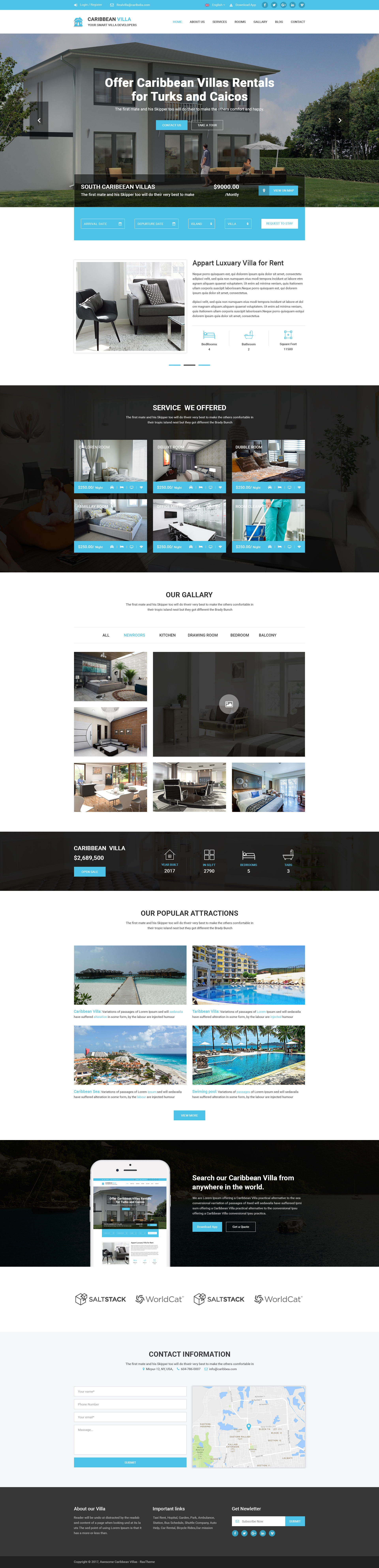 Caribbean Villa - hotel, resort, villa and business PSD Template by ...