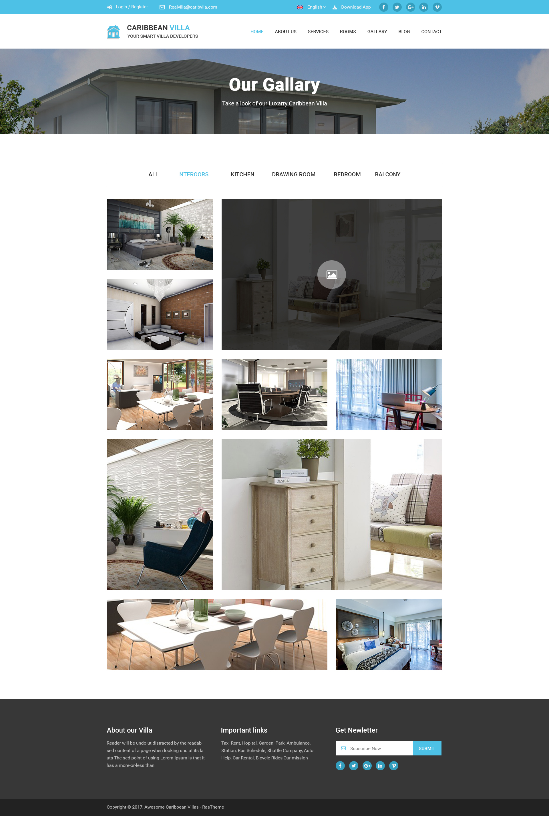 Caribbean Villa - hotel, resort, villa and business PSD Template ...