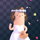 Isolated Toon Bridesmaid - VideoHive Item for Sale