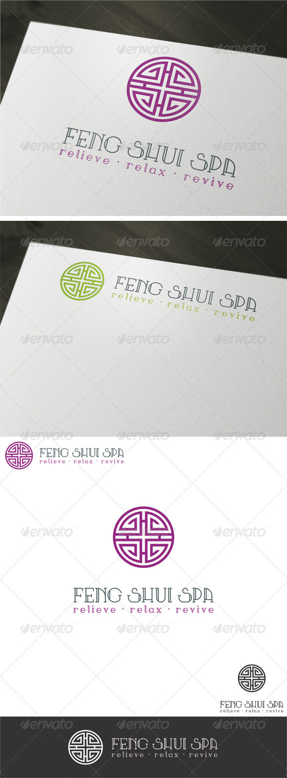 Feng Shui Spa Logo Template - Vector Abstract