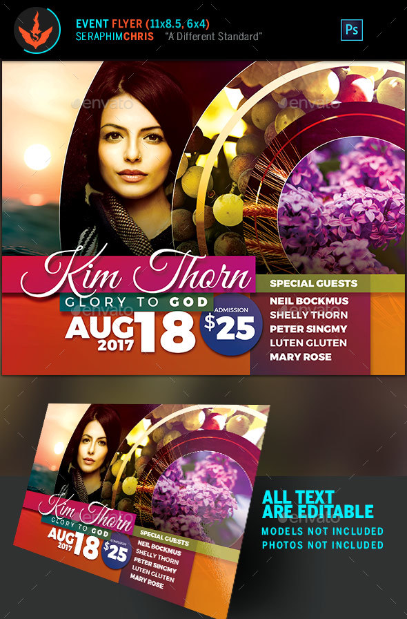 Circular Mask Event Flyer Template - Church Flyers