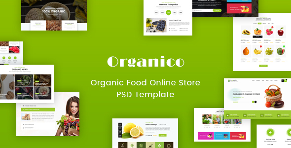 Origanico - Organic Online Store PSD Template - Food Retail
