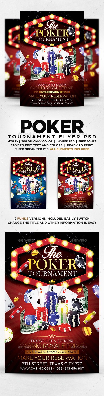 Poker Tounarment Flyer
