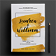 Gold Invitation 03 - GraphicRiver Item for Sale