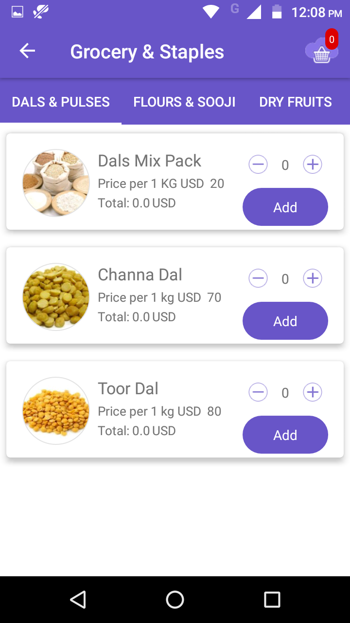 Grocery Store Android App