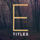 Elegant Titles - VideoHive Item for Sale