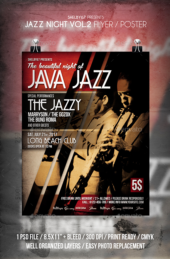 GraphicRiver Jazz Night Flyer Poster Vol 2 20349974