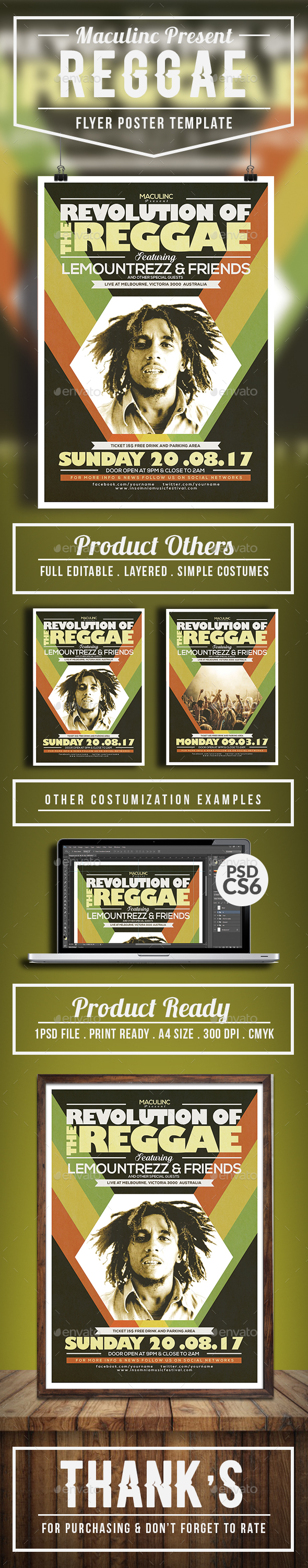 GraphicRiver Reggae Roots Flyer Poster Vol.2 20349985