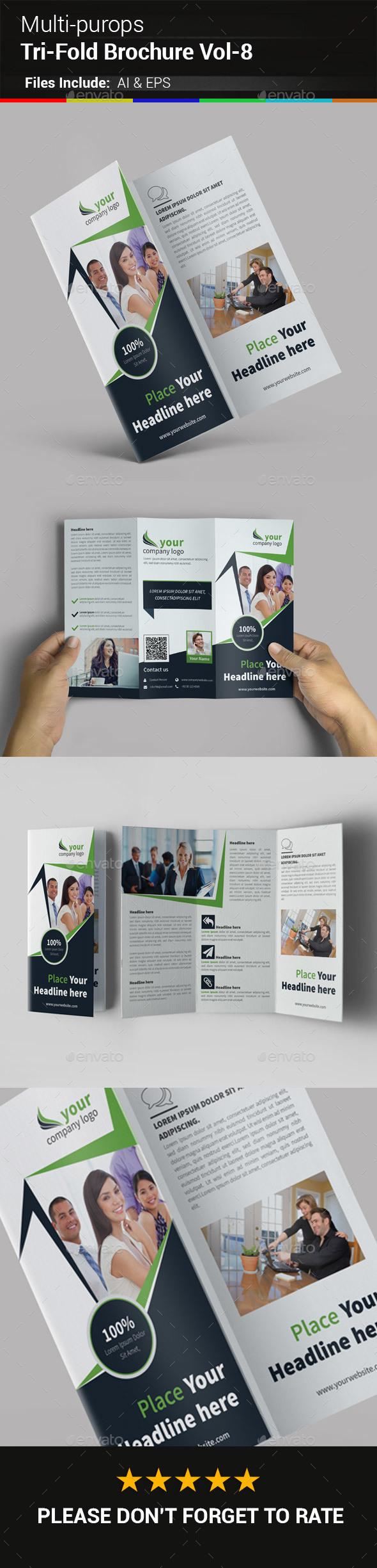 Multipurpose Business Tri-Fold Brochure Vol-8 - Corporate Brochures