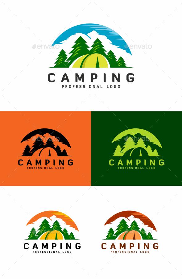 GraphicRiver Camping Logo 20350076