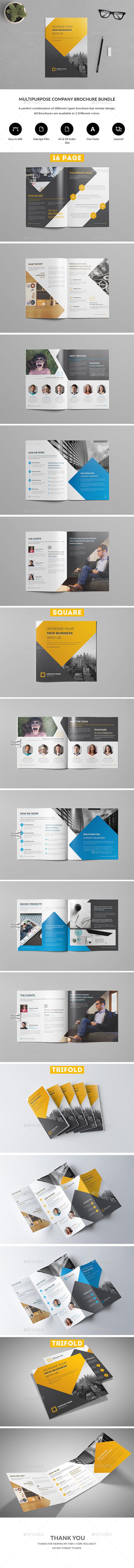 Company Profile Brochure Bundle - Brochures Print Templates