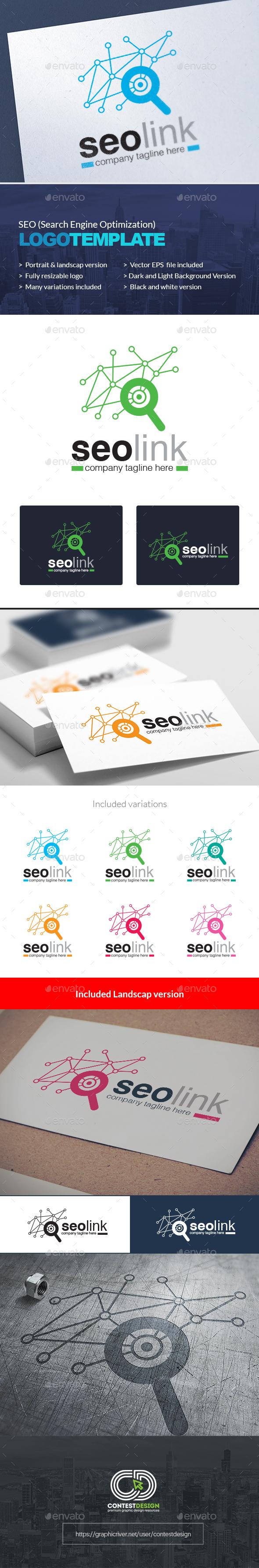 GraphicRiver SEO Search Engine Optimization Agency Company Logo Design Template 20350150