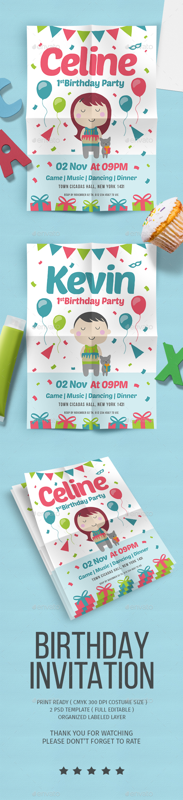 GraphicRiver Birthday party Flyer vol 5 20350402