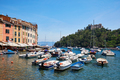 Portofino beautiful village with colorful houses, small harbor in Italy - PhotoDune Item for Sale