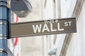Wall Street sign with street lamp near Stock Exchange in New York - PhotoDune Item for Sale