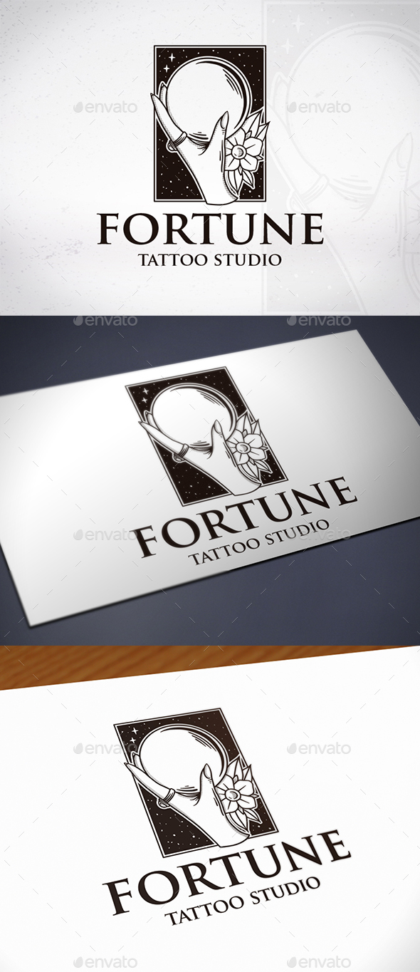 Fortune Tattoo Logo Template - Humans Logo Templates