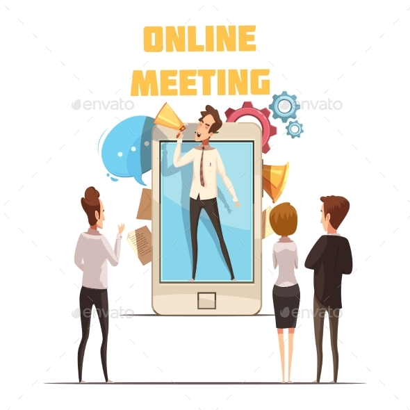 Online Meeting Concept - Technology Conceptual
