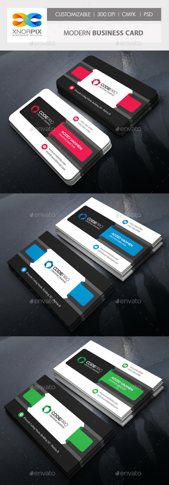 GraphicRiver Modern Business Card 20350748