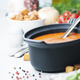 Homemade tomato soup (or gazpacho) over concrete background - PhotoDune Item for Sale