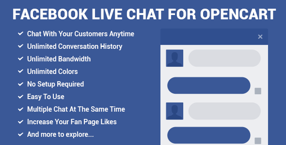 Facebook Live Chat for Joomla - CodeCanyon Item for Sale