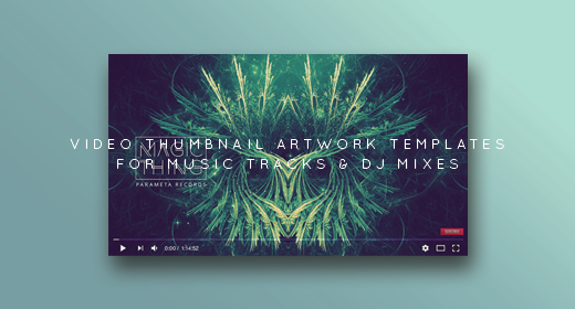 Youtube Music Video Thumbnail Artwork Templates