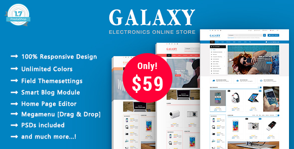 Galaxy - Technology Digital, Electronics Responsive Prestashop 1.7 Theme