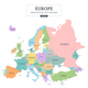 Europe Map 4 Styles Vector