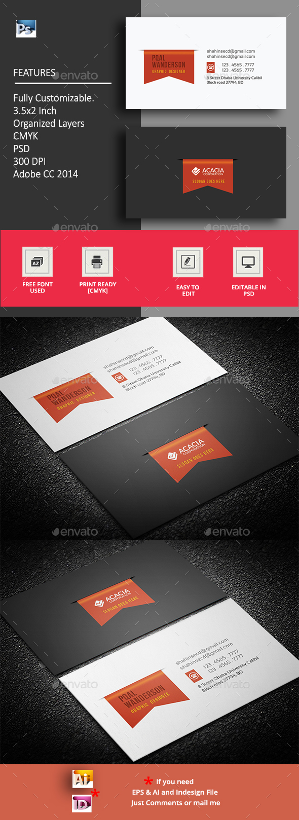 Nanim Business Card - Corporate Business Cards