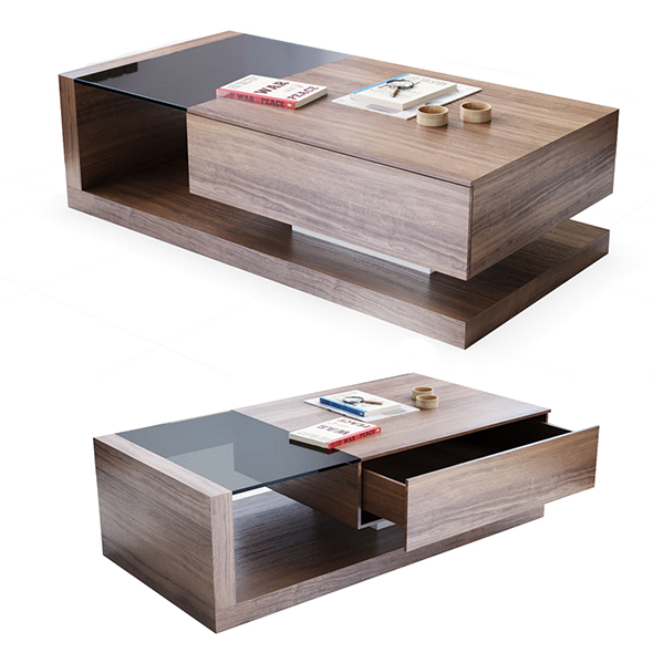 Jual Cube walnut coffee table - 3DOcean Item for Sale
