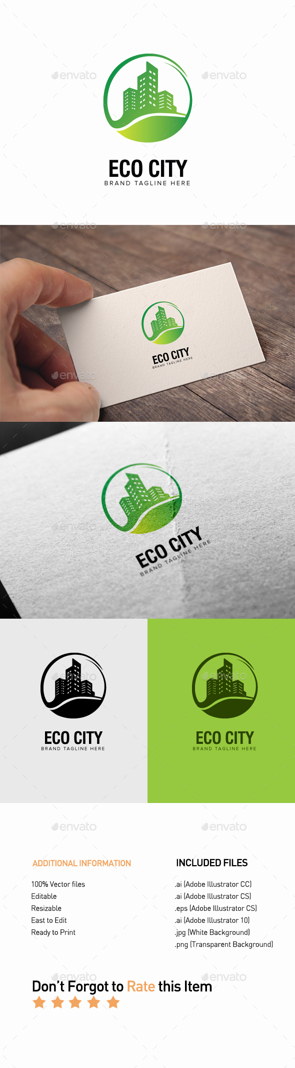 Eco City Logo - Buildings Logo Templates
