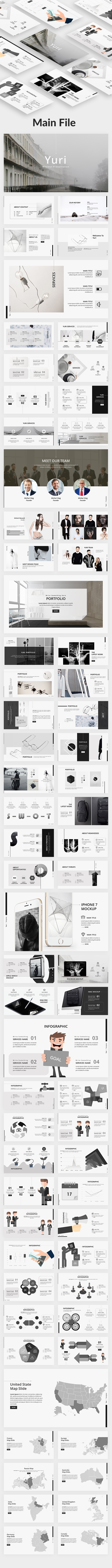 Yuri Creative Google Slide Template - Google Slides Presentation Templates