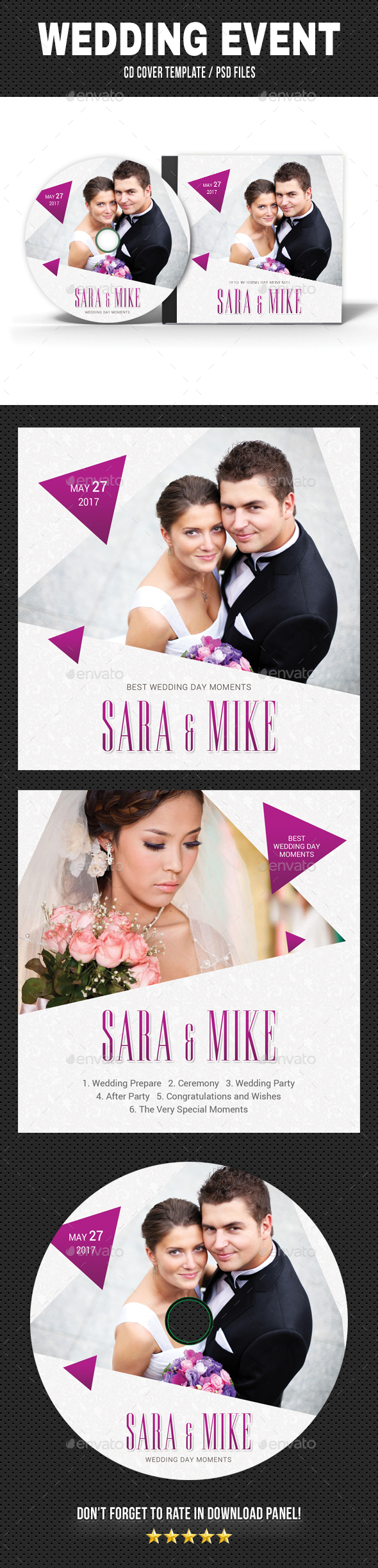 Wedding Event CD Cover v19