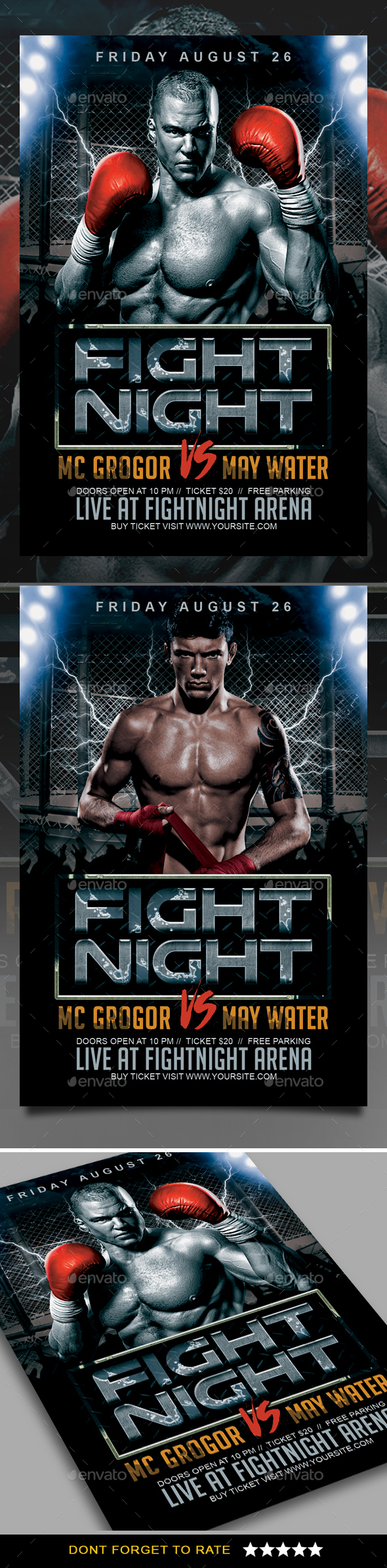 GraphicRiver Fight Night Flyer 20351632