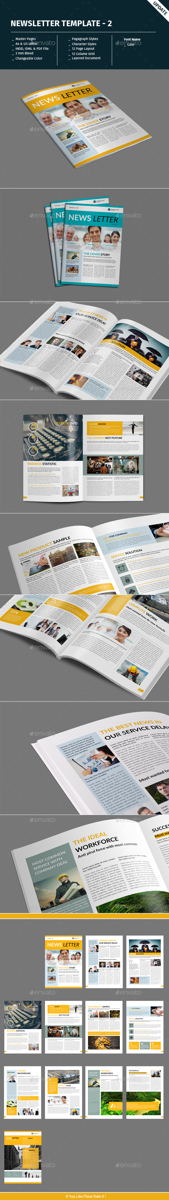 Newsletter Template - 2 - Newsletters Print Templates