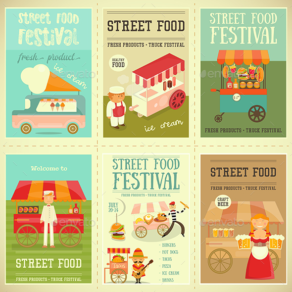 Street Food Festival - Food Objects
