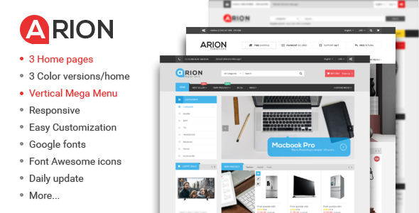 Arion - Responsive Multi-purpose WordPress Theme - WooCommerce eCommerce