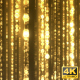 Golden Sparkling Rain - VideoHive Item for Sale