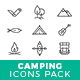 Camping Icons Pack - GraphicRiver Item for Sale