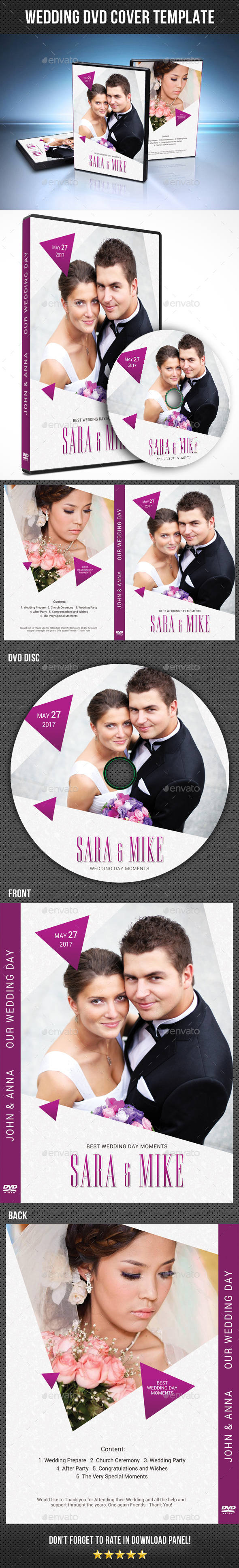 Wedding DVD Cover Template 22 - CD & DVD Artwork Print Templates