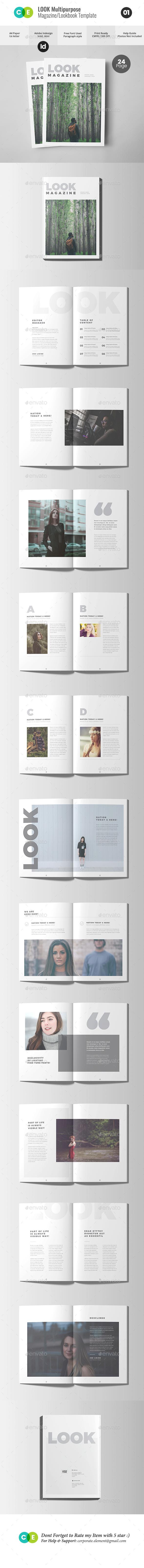 Look | The Magazine Lookbook V01 - Magazines Print Templates