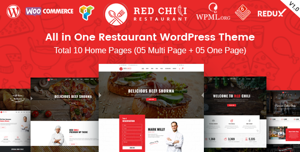 RedChili - Restaurant WordPress Theme for Restaurant, Food & Cafe - Restaurants & Cafes Entertainment