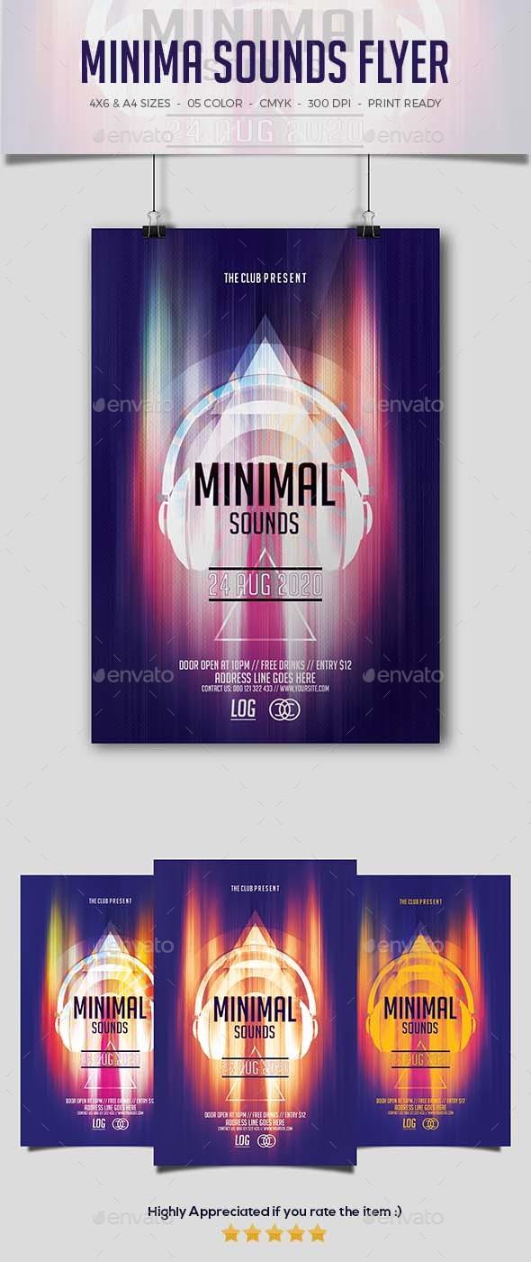 GraphicRiver Minimal Sounds Flyer 20352613