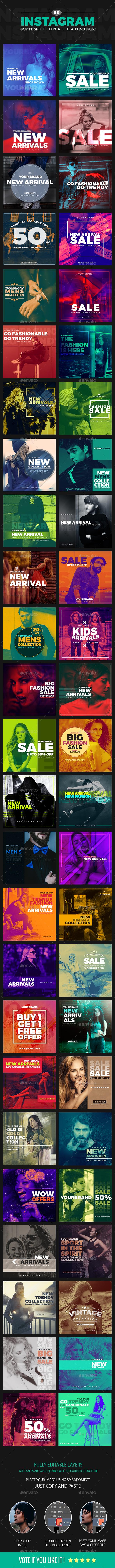 50 Duotone Instagram Banners - Social Media Web Elements