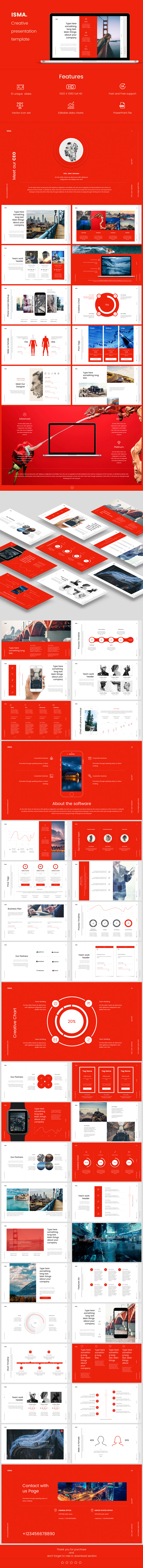 Isma PowerPoint Presentation Template - Business PowerPoint Templates